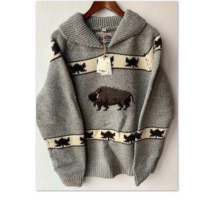 Schott Bros Cowichan Bison Hand Crafted Sweater